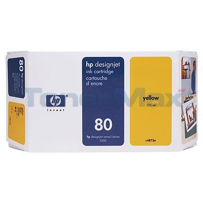 HP DESIGNJET 1050C NO 80 INK YELLOW 175ML